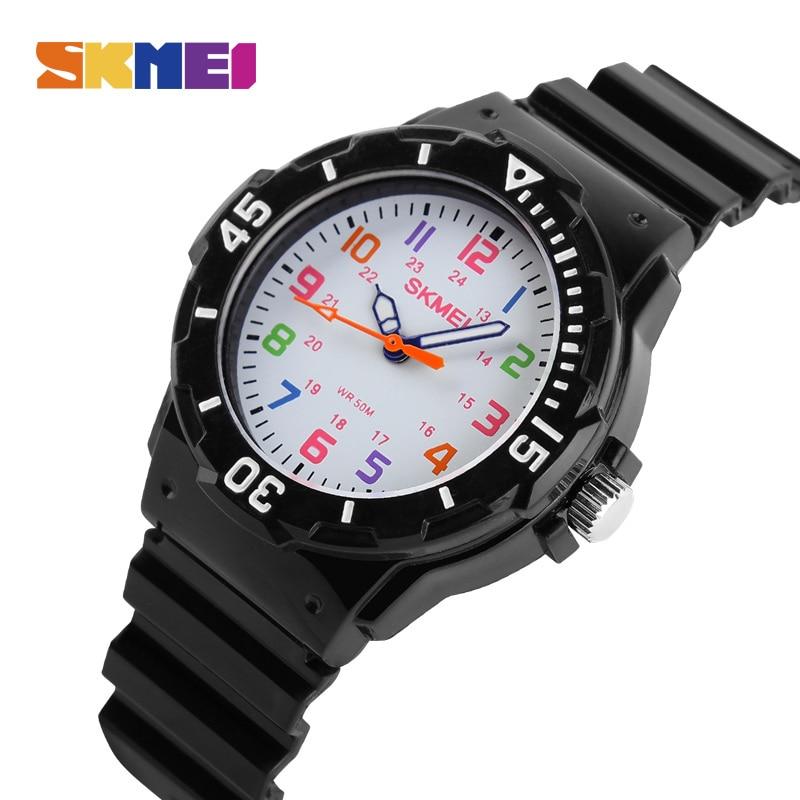 SKMEI Children Sport Quartz Watch Waterproof boys Hour girls Student Watches PU Strap Jelly Kids Clock Fashion Wristwatch 1043