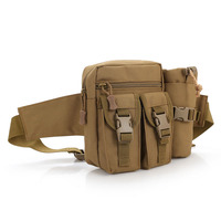 Adjustable Outdoor Military Tactical Molle Assault Duffle Travel Camping Hiking Army Belt Waist Pouch Bag with bottle holder 023