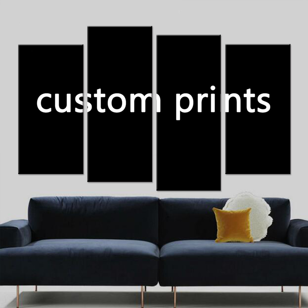 Canvas Prints Painting 4 Pieces Custom Made Pictures Drop Shipping PENGDA
