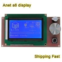 Анет A6 обновления 12864 ЖК-дисплей Smart Экран дисплея легко контроллер модуля кабель для Пандусы Arduino MEGA щит RepRap 3D-принтеры комплект