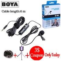 BOYA BY-M1 BY-M1DM Lav петличный микрофон всенаправленный конденсаторный микрофон 3,5 мм микрофон для Canon/iPhone DSLR диктофонов