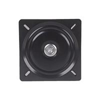 195 x 1.5mm Metal Black Ball Bearing Square Swivel Turntable Chair Swivel for Bar Stool Chair