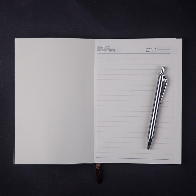 RuiZe Vintage dik notitieboekje met pen A5 lederen dagboek agenda - Notitieblokken en schrijfblokken bedrukken - Foto 5
