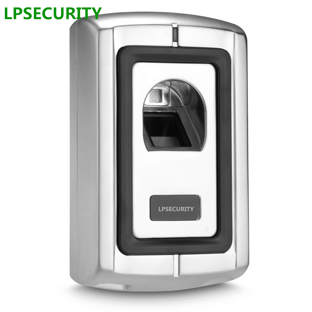 LPSECURITY Metal Case Anti-Vandal Remote Standalone Waterpoof Biometric Fingerprint Access Control Reader System(no rfid reader) biometric standalone access control rfid access control for building management system