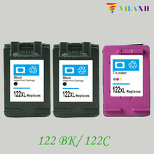 цена на For HP 122 Ink Cartridge For HP122 xl Deskjet 1000 1050 1510 2050 1050A 2000 2050A 2540 3000 3050 3050A Printer