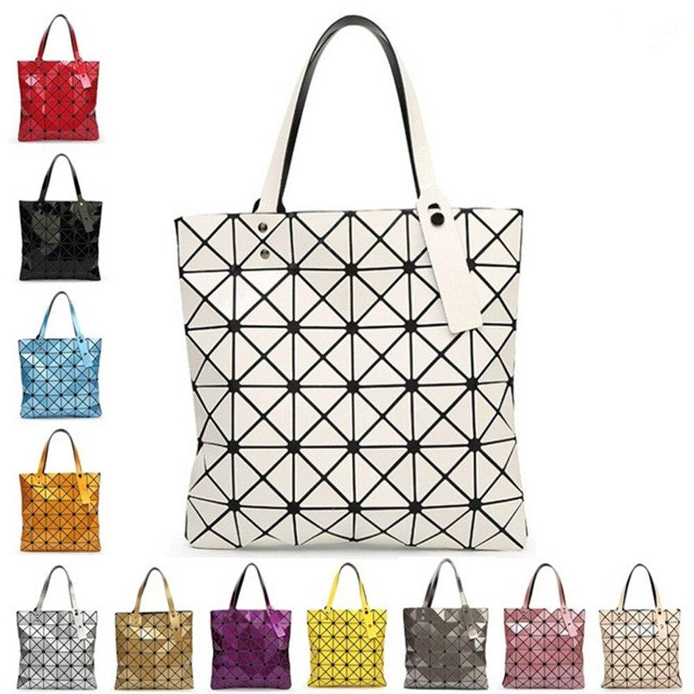 С логотипом женщин геометрическая плед мешок сложил мадам повседневная сумка верхнюю ручку искажения пакет сумка бао бао жемчужина baobao