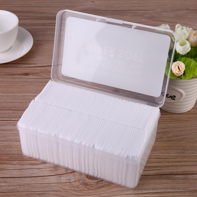 1000pcs Thin Cotton Pads Nail Polishing Remove Cleaning Pad Facial Oil Control Absorption Film Makeup Cotton Box-packed muji japan 4 layers facial cotton pad 60 sheets x 2 box