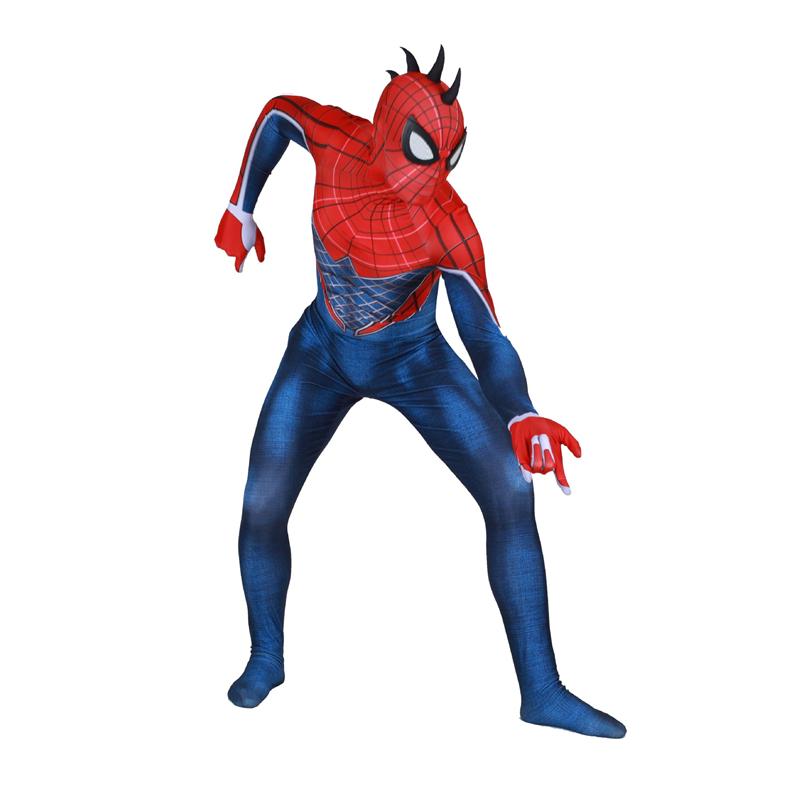 Adult Game Marvel Sony PS4 Exclusive Game Punk Spiderman Role-Playing Game Party Show Siamese Tights Dress