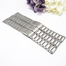 Stainless steel Metal watch straps 22mm watchbands22mm 2019 new 3 Folding buckle watchband 22MM banda de