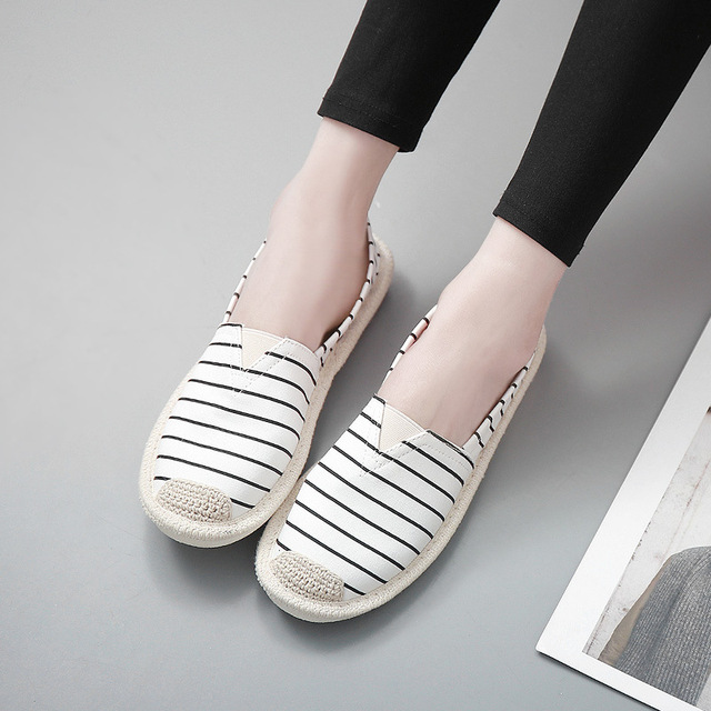 fb9792638543 1208.99 руб. 32% СКИДКА В полоску обувь на плоской подошве Для женщин  Повседневное ...