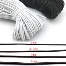 1/2/2/3/4/5/6mm mocne elastyczne liny Bungee lina amortyzująca rozciągliwy sznurek dla DIY tworzenia biżuterii szycie ubrań DIY Handmade craft