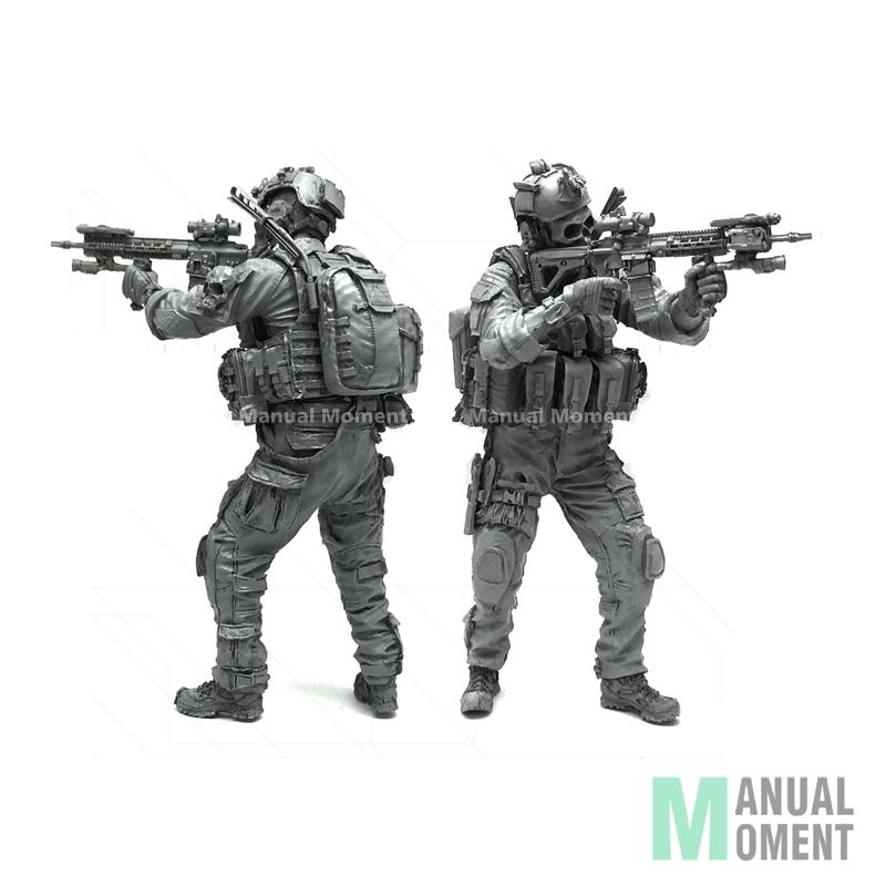 Miniature 1/35 Modern U.S Army Blue Devil Warrior A Individual Soldier Resin Model Figure Kit LJH-01