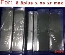 100 шт./лот пластиковая Оригинальная защитная пленка для экрана для Новый мобильный телефон для iPhone 12 7plus, 8, 8plus, X XS MAX XR