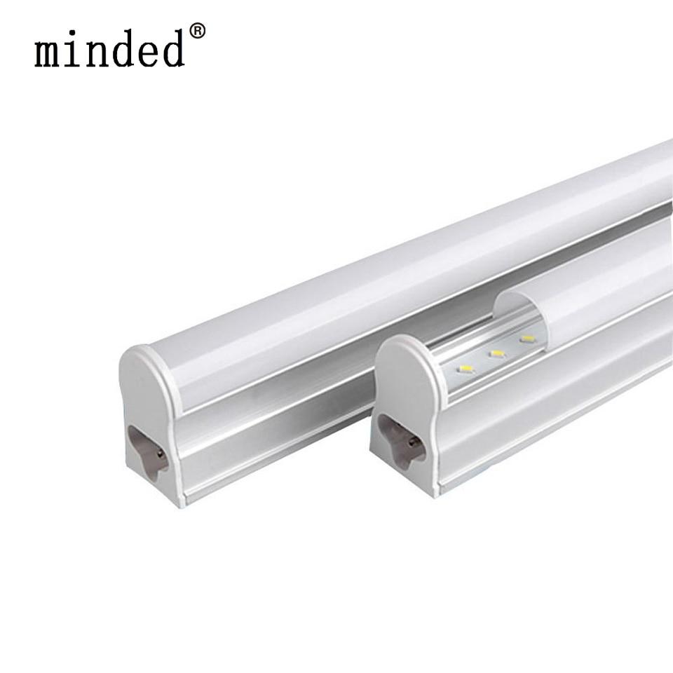 220/240 В T5 светодиодные трубки бра Холодный/теплый белый флуоресцентные T5 integrated светодиодные трубки 30 см 6 Вт 60 см 10 Вт 24/48 шт. светодиоды лампа