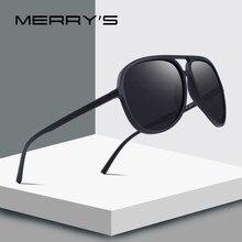 ec3ed75909 MERRY'S hombres del diseño clásico piloto polarizadas marco más ligero 100%  de protección UV S'8510