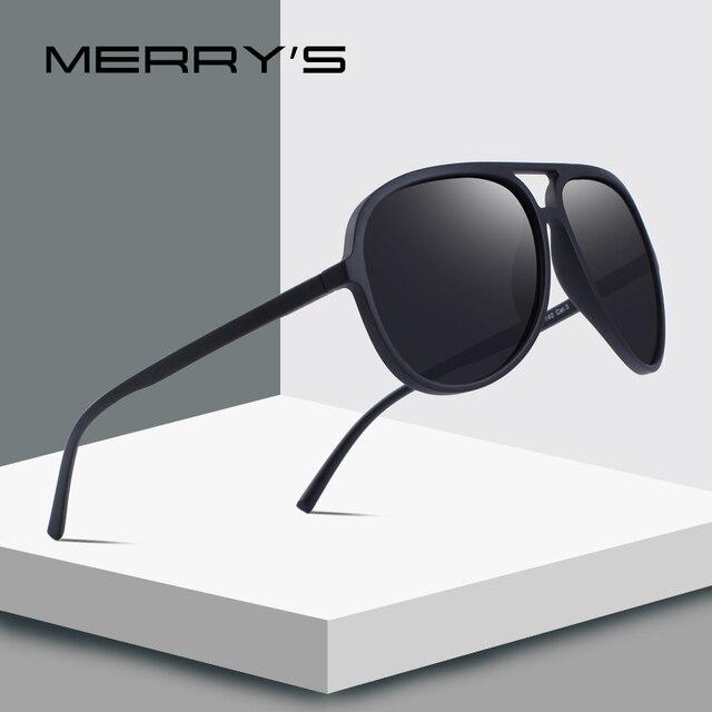 7dc37148ff477 MERRYS DESIGN Men Classic Pilot Polarized Sunglasses Lighter Frame 100% UV  Protection S8510