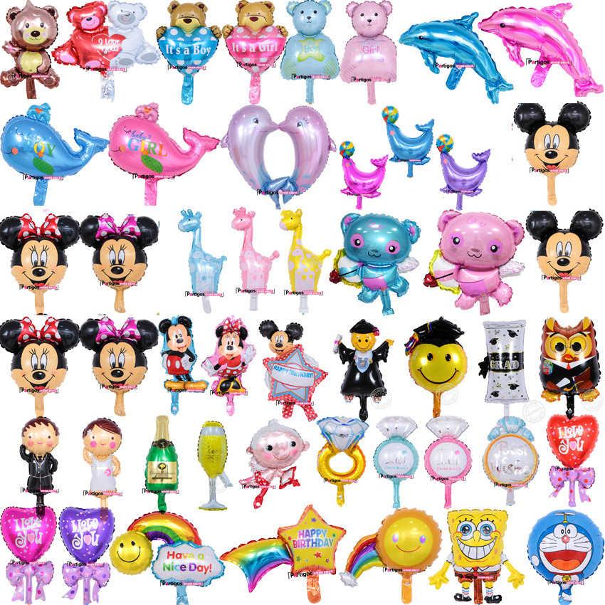 1 個ミニ漫画動物ミッキーミニー犬アルミ箔風船子供の誕生日パーティー結婚式の装飾子供のおもちゃバルーン