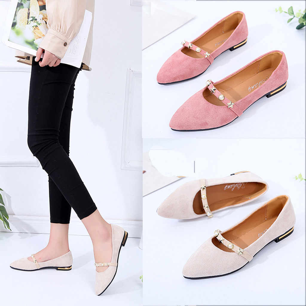 2019 Women s Pumps New Fashion Spring Summer Shoes Casual Low Heel Shallow  Mouth Wild Lady Wedding 82ffbce0b