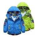 Criança ao ar livre jaqueta masculina outerwear criança meninos roupas outono de 2016 primavera e no outono espessamento bebê trincheira
