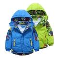 Niños chaqueta al aire libre masculina ropa de abrigo niño niños ropa de otoño 2016 primavera y otoño bebé engrosamiento zanja