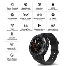 4G Smart Watch Phone Android 7.1.1 Quad Core 16GB+1GB 5MP Camera 1.4-Inch AMOLED Display 580mAh GPS google search SmartWatch Men
