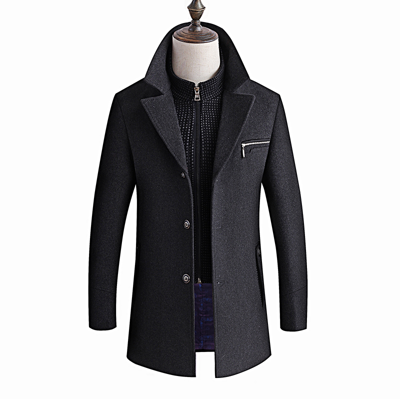 Winter Jacket Men Thickening Wool Coat Slim Fit Jackets Fashion Outerwear Warm Man Casual Jacket Overcoat Pea Coat Plus Size 6XL