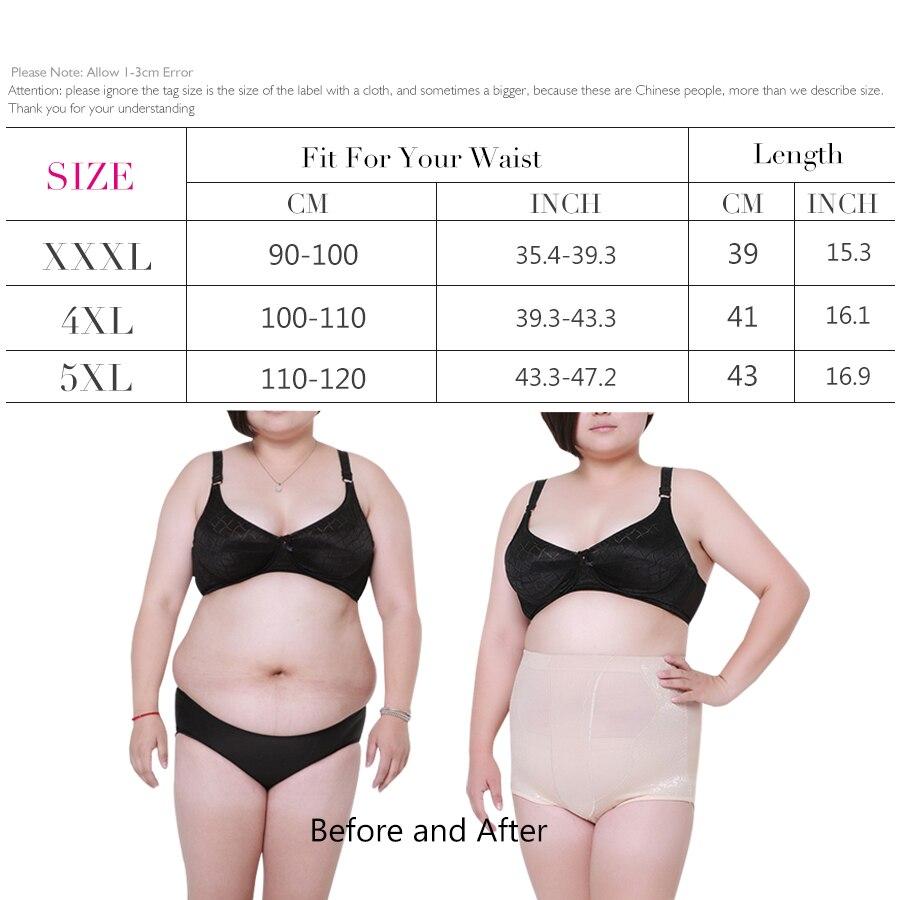 821f719b842 2017 Women Slimming High Waist Body Shaper Briefs Control Abdomen Hip  Shapewear Pants Plus Size XXXL 5XL Shapwear Modeling Strap-in Control  Panties from ...