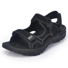 Xiaguocai 2017 New Arrival Genuine Leather Men Sandals Handmade Solid Male Sandals Plus Size 46, 47 Brand Shoes X1373 35