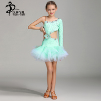 Sexy Latin Dance Dress For Girls High-end Rhinestone Professional Latin Dance Dress Kids Latin Salsa Competition Dresses