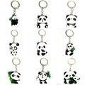 1 шт. Ювелирные Изделия Металл Милые Детские Panda Bear Брелок Кольцо Аниме Брелок Новинка Творческий Брелок Брелок Шарм Женщины дети