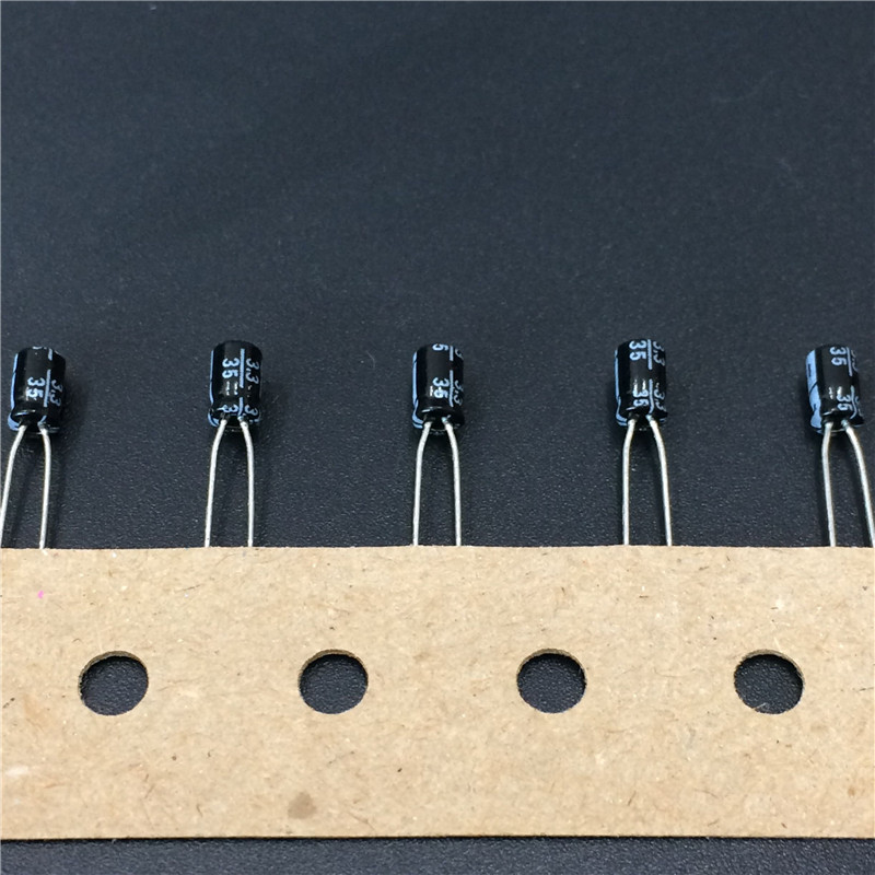 20pcs 3.3uF 35V SANYO 3x5mm Small Size Low Profile 35V3.3uF Aluminum Electrolytic Capacitors