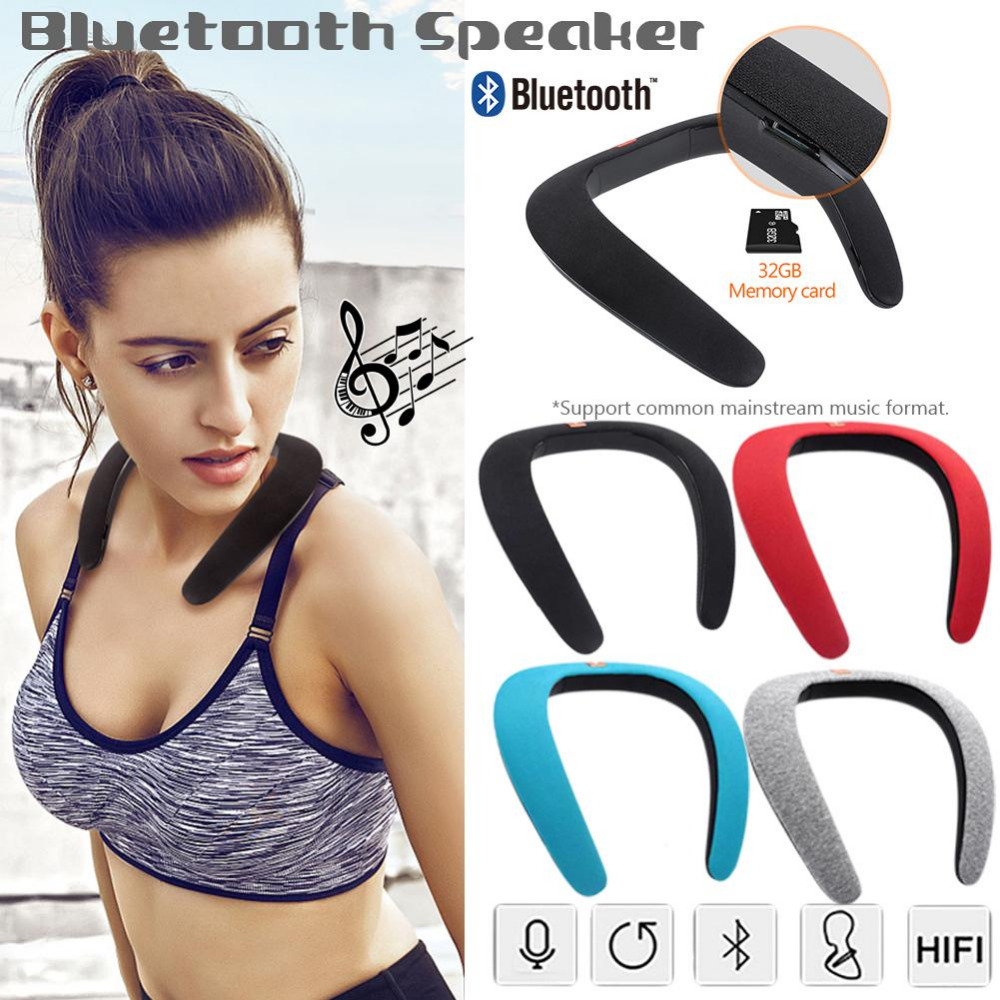 Wireless Bluetooth Portable Mp3 Player Neck Novelty Bluetooth Wearable Speaker Subwoofer Magic Bluetooth Sports Speaker 11.11 цена