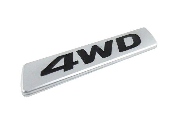 silver black 4WD for 2013-2016 Santa Fe trunk Emblem Badge Sticker