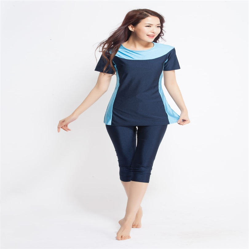 a3cd403a355 2018 Women Short sleeve muslim swimsuit swimwear modesty style Muslimah  Swim Clothing Islamic Wear