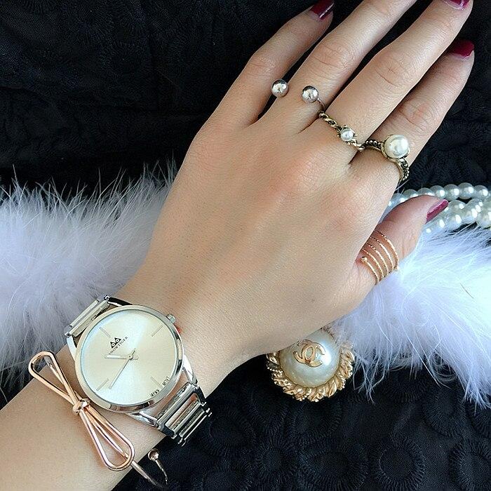 Karšto pardavimo Ženevos aukso sidabro moterų suknelė žiūrėti - Vyriški laikrodžiai - Nuotrauka 4