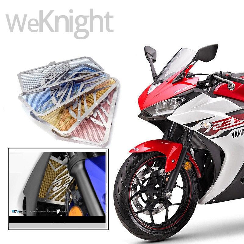 2017 recién llegado de la motocicleta accesorios de acero inoxidable radiador pr