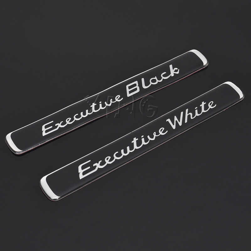 Exquisite Car Sticker Emblem Badge Decal For BMW Audi Ford Nissan VW Toyota Skoda Executive Black White Styling Auto Accessories