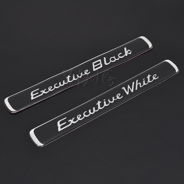 Exquisita etiqueta de la insignia del emblema del coche para BMW Audi Ford Nissan VW Toyota Skoda ejecutivo negro blanco estilismo accesorios de automóvil