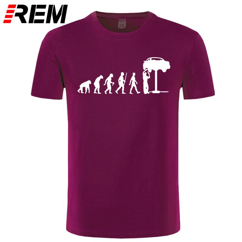 HTB1dfhhcMsSMeJjSspeq6y77VXaD - REM Summer Style Evolution Auto Mechaniker Mechanic Car T-Shirt Tops Funny Gift T Shirt For Men Tee