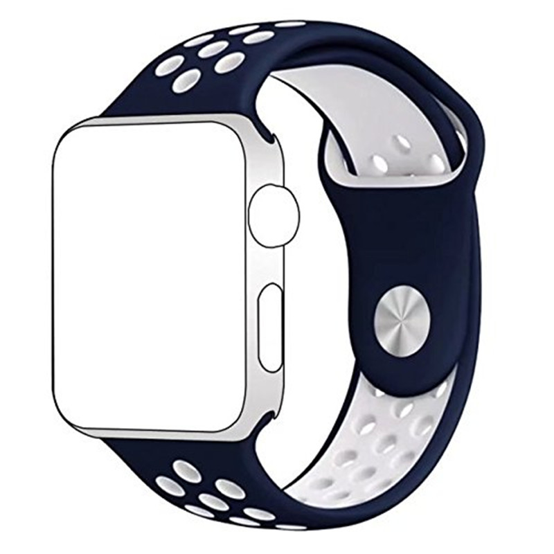 ASHEI Strap for Apple Watch iWatch Band 38mm 42mm Soft Silicone Replacement Wristband for Apple Watch Series 3 2 1 Watchband cowhide genuine leather strap watch band for apple watch iwatch series 1 series 2 38mm 42mm wristband replacement with adapter