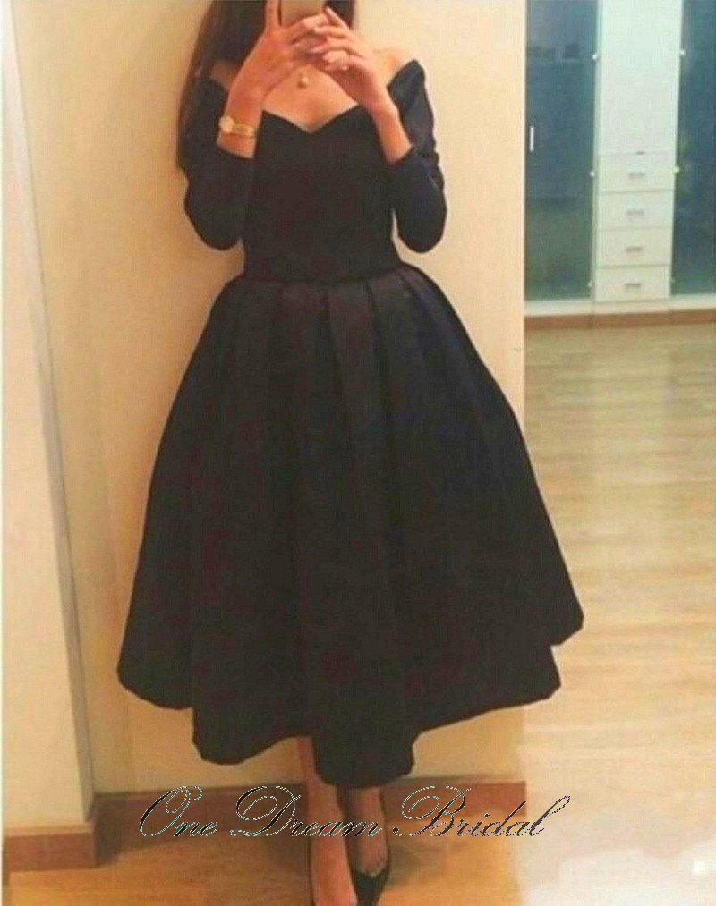 Black dress under graduation gown - Cheap Girl A Line Evening Dresses V Neck Sleeves Graduation Dresses Black 2016 New Arrival Formal Dresses Under 70