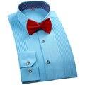 2016 Новый Бренд Моды для Мужчин Смокинг Рубашка С Длинным Рукавом Белый Свадьба Мужчины Платье Рубашка Формальные Регулярные Fit Мужской Случайные рубашки
