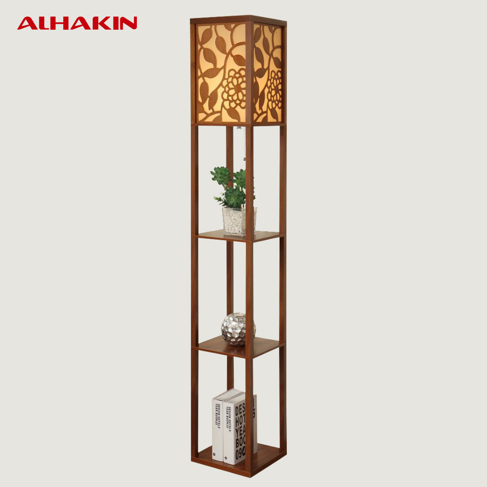Chinese Style Modern Minimalist Wooden Floor Bedroom Bedside Lamp Flower  Shelf Standing Lamp Floor Lamps For Living Room In Floor Lamps From Lights  ...