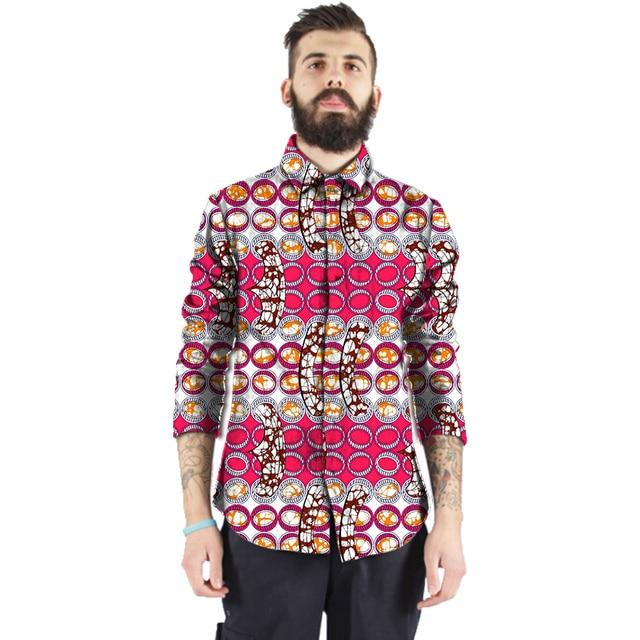 8f75ff94 African print slim fit shirt men fashion design trun down collar shirts  dashiki tops of africa