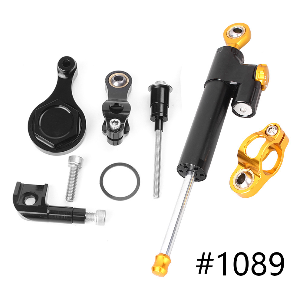 For Yamaha YZF R6 R1 CNC Steering Damper Stabilizer w/ Bracket Set Saftety Control 2006-2015 Anodized Aluminum Motorcycle Parts