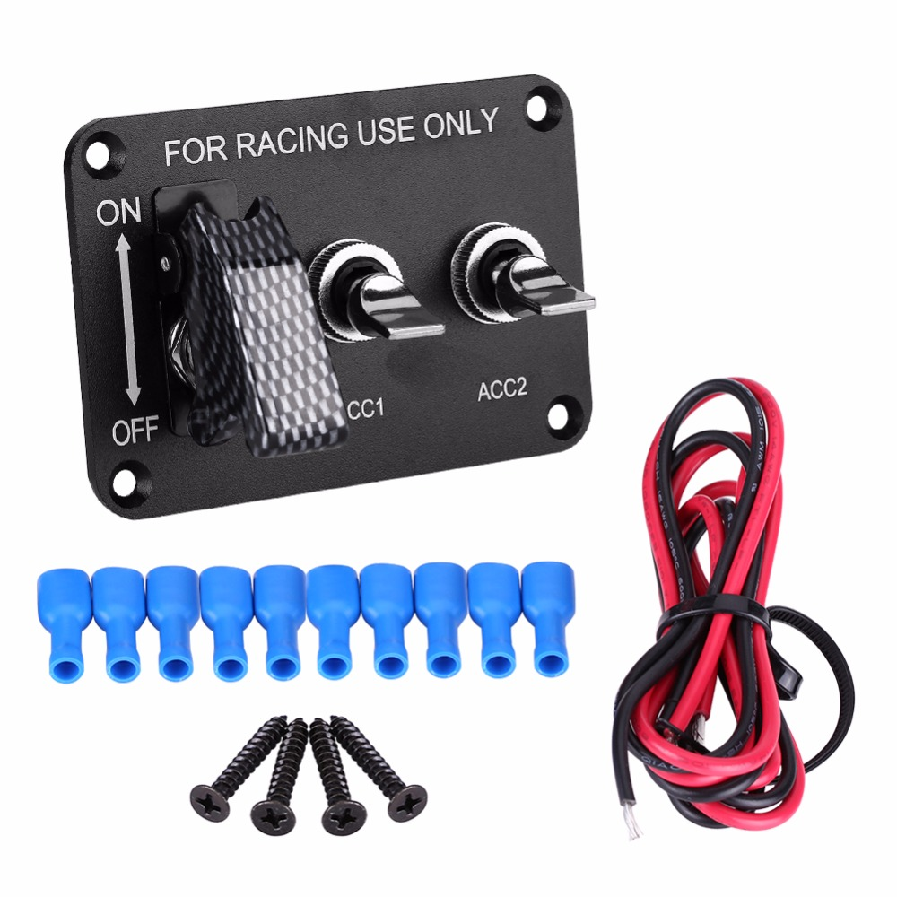 Universal 12V 20A Racing Car Circuit Modified Panel Knob Switches On/Off Switch