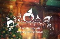 Natale vecchio alce clima di Festa Negozio negozio porta dell'ufficio decorazione sticker window sticker wall sticker
