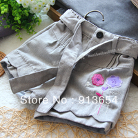 Free Shipping New 2013 Fashion Spring Autumn Baby Shorts Kids Boot Cut Jeans Female Child Short