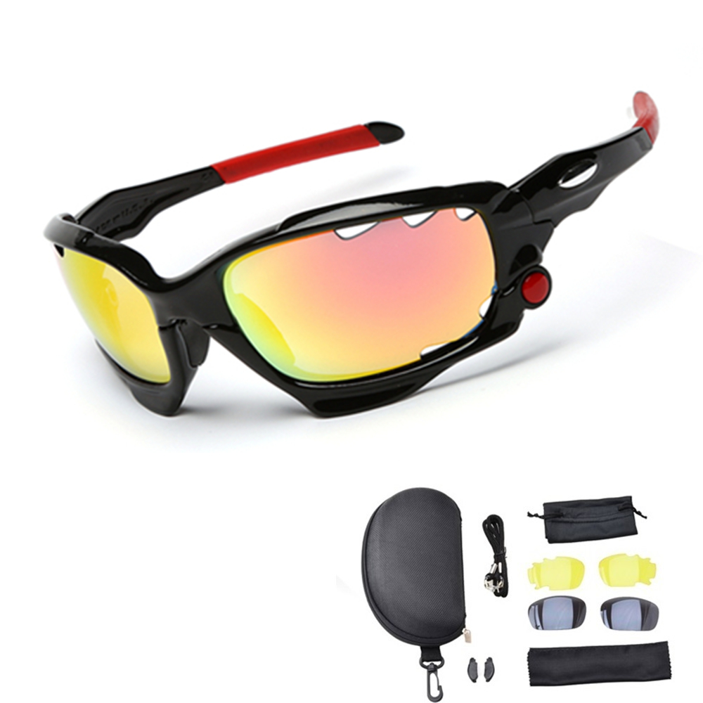Hot!2018 Top Quality Man/Women Polarized Cycling Sport Sunglasses MTB Bike Outdoor Eyewear Racing Bicycle Goggle Glasses 3 Lens cashiro 9184 outdoor cycling sport windproof polarized sunglasses goggle black red revo