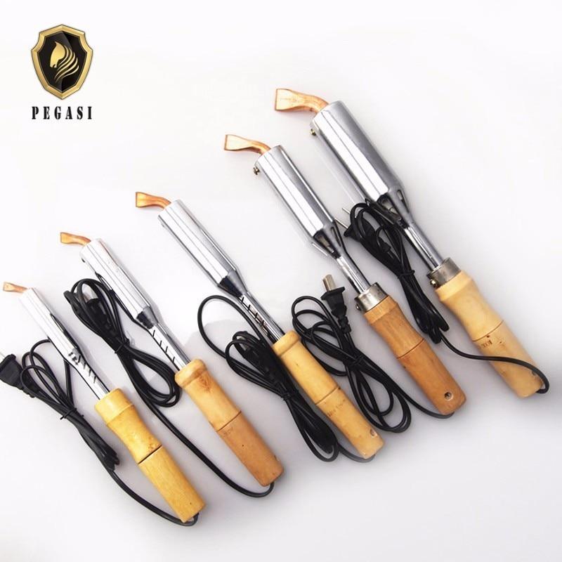 PEGASI 220V  75W 100W 150W 200W 300W Duty Electric Soldering Iron High Power Chisel Tip Soldering Iron Chisel Tip Wood Handle